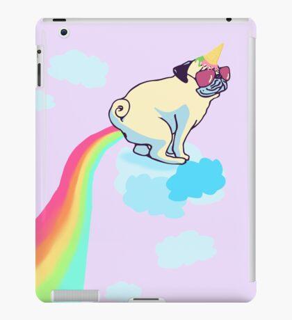 rainbow pug #2 iPad Case/Skin