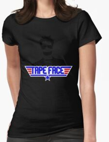 TAPE FACE Womens Fitted T-Shirt