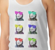 Chimps be Chillin - Grid Colours Tank Top
