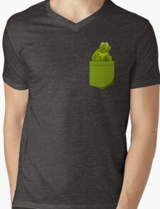 Kermit Pocket Mens V-Neck T-Shirt