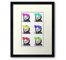 Chimps be Chillin - Grid Colours Framed Print