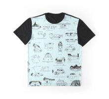 Heath Robinson Motorcars Repeating Pattern Graphic T-Shirt
