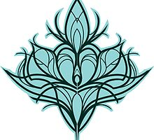 Damask Lily - Turquoise by wallyhawk