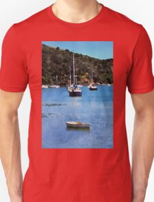 Luxury yachts in Watercolor Unisex T-Shirt