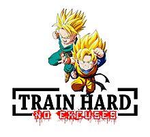 Train Hard - Trunks and Goten Photographic Print