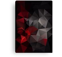Abstract background of triangles polygon wallpaper in black red colors Canvas Print