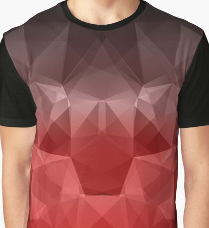 Abstract background of triangles polygon wallpaper in black red colors Graphic T-Shirt