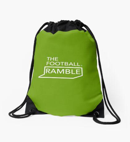 Ramble logo white on green – bag Drawstring Bag