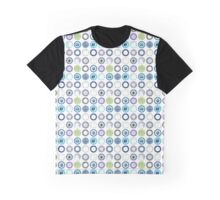 Vintage Plates Repeating Pattern Graphic T-Shirt