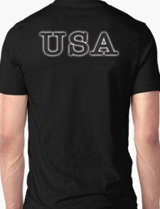 USA, United States of America, Typewriter Font, Pure & Simple Unisex T-Shirt