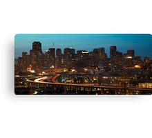 San Francisco at Night (Limited Edition) Canvas Print