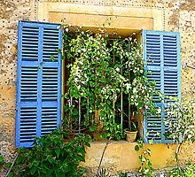 Son Marroig Blue Shutters by Fara