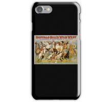 Buffalo Bill, Wild West, Wild Bill, Congress of Rough Riders of the World, Circus poster iPhone Case/Skin