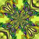 Green square digital ornament by RosiLorz