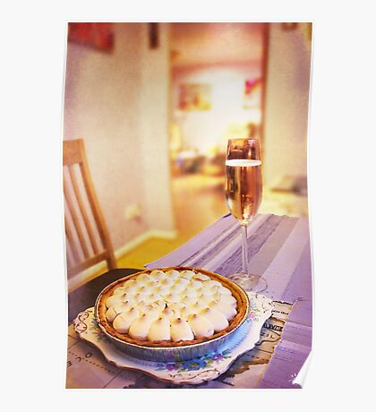 Meringue with Bubbles Poster
