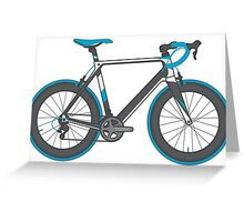 Road Bike Graphic-Sprinter Greeting Card