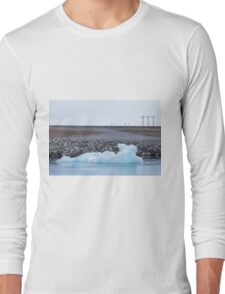 Beautiful view of icebergs in Jokulsarlon glacier lagoon, Iceland Long Sleeve T-Shirt
