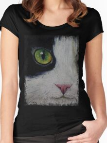 Japanese Bobtail Cat Women's Fitted Scoop T-Shirt