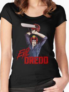 Evil Dredd Women's Fitted Scoop T-Shirt