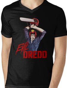 Evil Dredd Mens V-Neck T-Shirt
