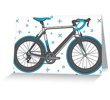 Road Bike Graphic-Sprinter+ Greeting Card