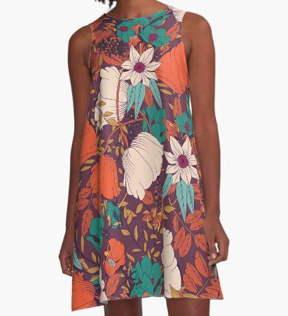 Botanical pattern 010 A-Line Dress