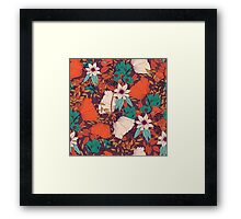 Botanical pattern 010 Framed Print