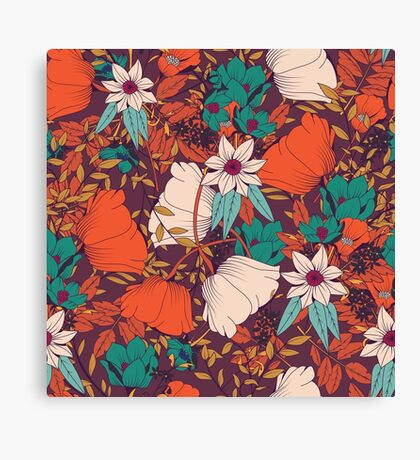 Botanical pattern 010 Canvas Print