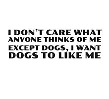 Dogs Cool Funny Quote People Ironic Random Photographic Print