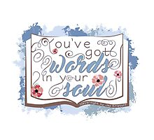 Nevernight - You've Got Words In Your Soul (blue) Photographic Print