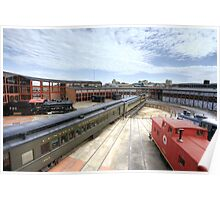 New Jersey Central Enters The Steamtown Roundhouse Poster