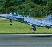 Saab JAS 39A Gripen 39133 taking off by Colin Smedley