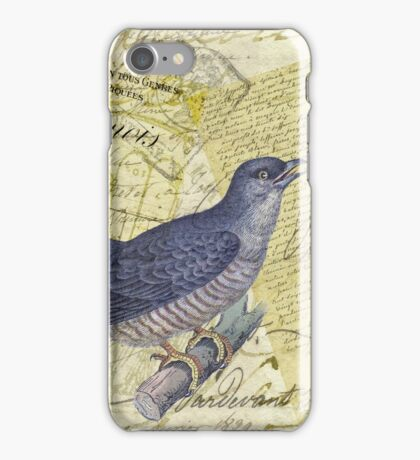 Blue Bird of Happiness iPhone Case/Skin