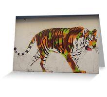 Graffiti tiger Greeting Card