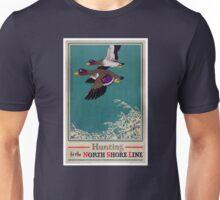 Vintage Mallard Hunting Poster Restored Unisex T-Shirt