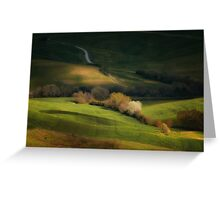 Inpression with trees Greeting Card