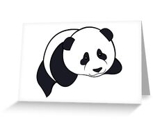 Panda - Black Greeting Card