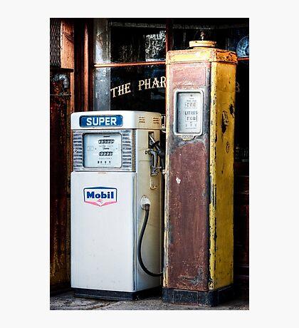 Old Petrol Pumps Photographic Print