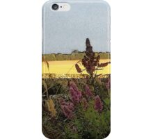 Evening golden fields iPhone Case/Skin