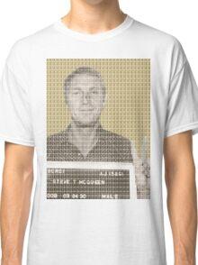 Steve McQueen Mug Shot - Gold Classic T-Shirt