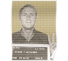 Steve McQueen Mug Shot - Gold Poster
