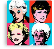Golden Warhol Girls Canvas Print