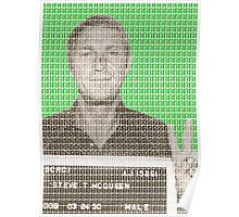Steve McQueen Mug Shot - Green Poster
