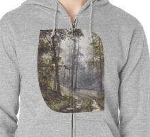 Wet Morning in the Forest Zipped Hoodie