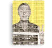 Steve McQueen Mug Shot - Yellow Canvas Print