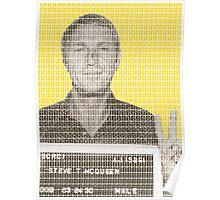 Steve McQueen Mug Shot - Yellow Poster