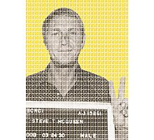 Steve McQueen Mug Shot - Yellow Photographic Print