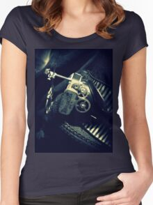 Steampunk Ladies Hat 2.2 Women's Fitted Scoop T-Shirt