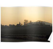 Winter sunrise over Bullinghope, Herefordshire Poster