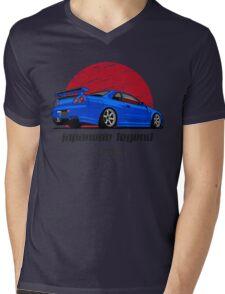 Nissan Skyline GTR R34 (blue) Mens V-Neck T-Shirt